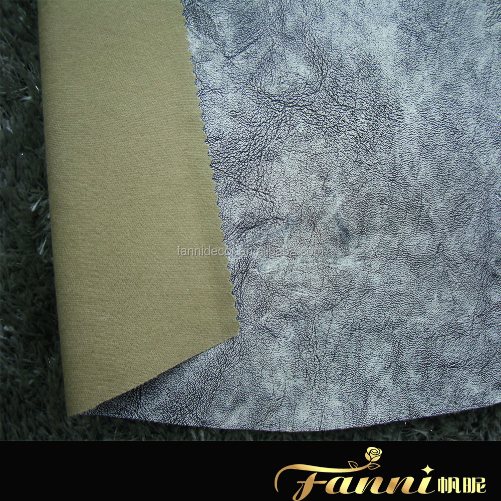 Newest High Quality Pu Embossed Leather /low Price Pu Garment Leather /pu Imitation Jacket Leather