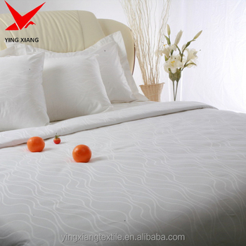 Cotton And Polycotton White Bed Sheet, Satin Stripe/Jacquard/Plain White Flat  Sheet