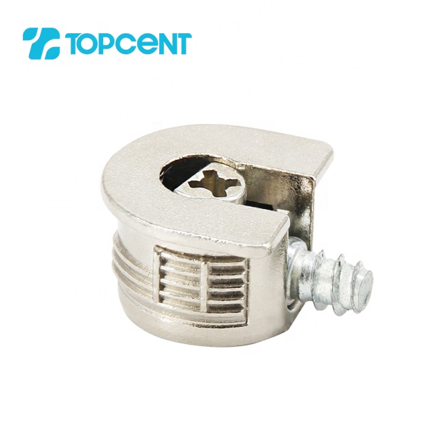 Topcent furniture hardware metal corner cam lock rafix connector fastener