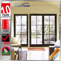 luxury sound proof thermal break home door design with insect screen