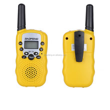 BF-T3 BAOFENG UHF Walkie Talkies PMR446 Rádio <span class=keywords><strong>3</strong></span> Milhas (1 Par) Amarelo