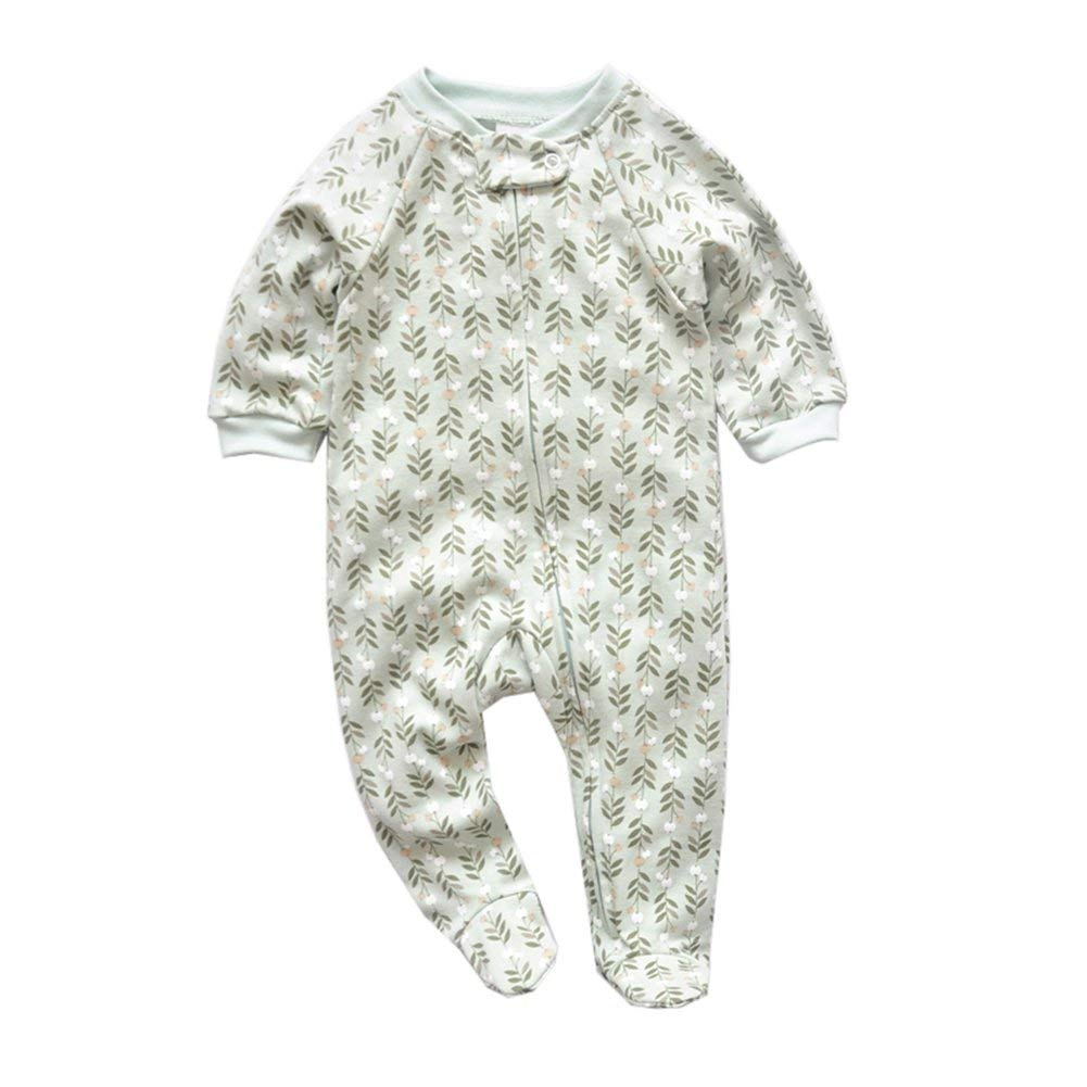 fe706fe9ff Get Quotations · Kimjun Infant Baby Footed Pajamas Sleeper for Boys Girls  Cotton Sleepwear Newborn Toddler Pjs Romper 3