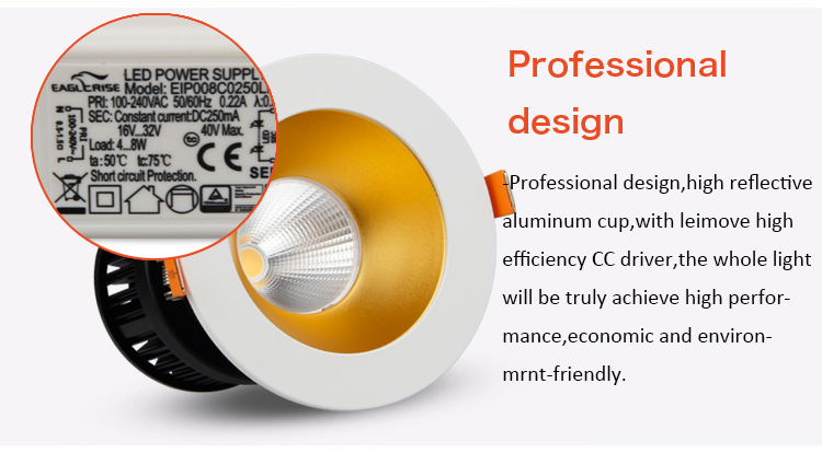 LED recessed 2.5 inch adjustable spot light