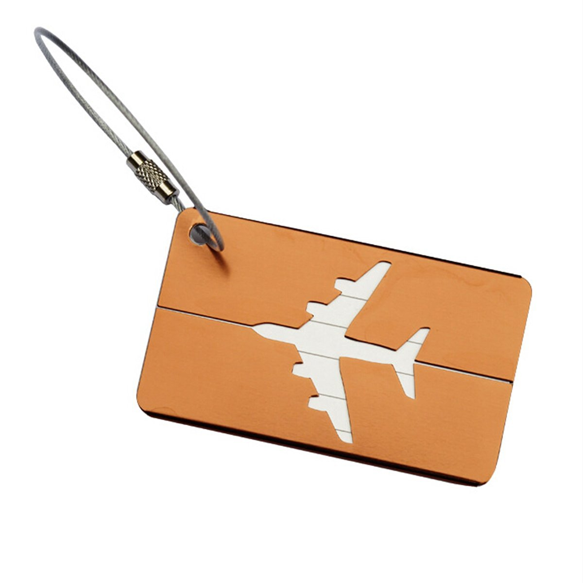 PIXNOR Luggage Tag with Key Ring Travel ID Bag Tag (Coffee)