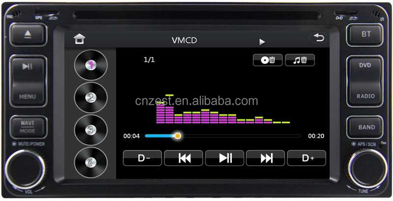For Toyota Innova Car Stereo Dvd Player With Car Radio Audio Gps