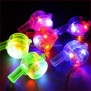 promotional LED light Virgin ABS party whistle