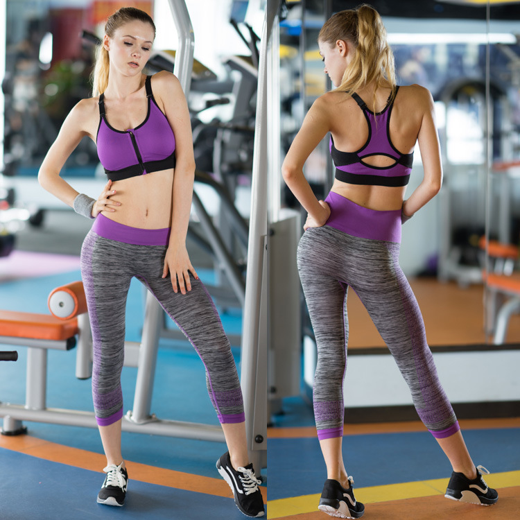 Polyester Compression Pants Running Quick Dry Yoga Leggings Fitness