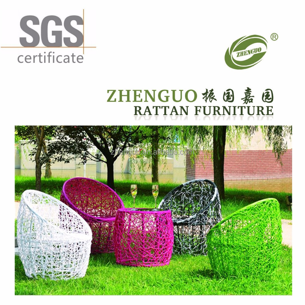 2017 waterproof outdoor coffee garden bird nest rattan chair