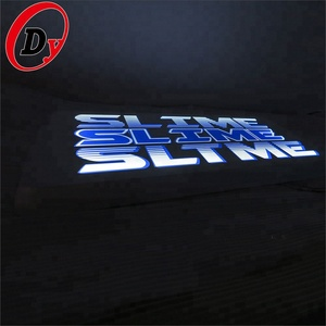 custom made solid 3d frontlit LED mini light up factory storefront alphabet acrylic letters for signs