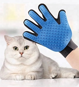 Hot items 2018 new years products pet dog cat grooming gloves cat massage bath gloves brushes