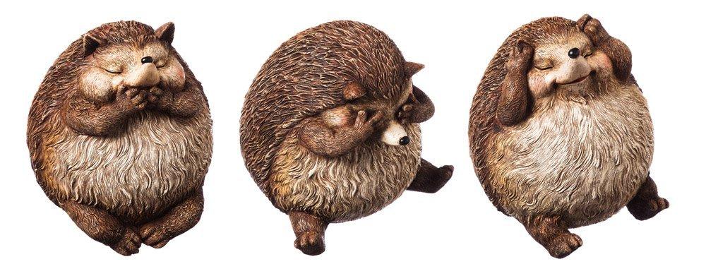 New Creative Polystone Hear, Speak, See No Evil Hedgehog Acorn Alley Statuary