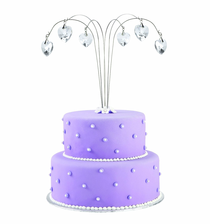Wilton Dangling Hearts Cake Spray Topper 6 Sprays And 1 Tube Per Box