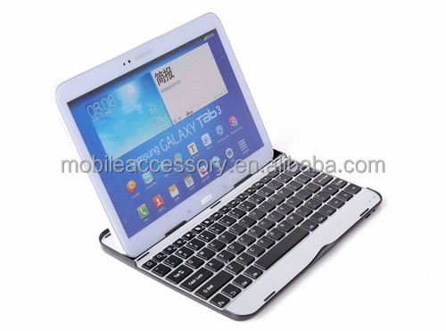 Wireless metal aluminum bluetooth keyboard case for samsung galaxy tab pro 8.4, different language available