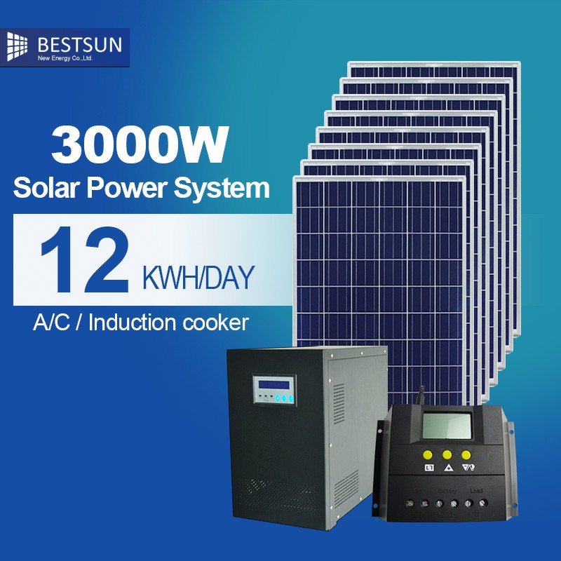 Top sales industrial solar power generator 3KW the whole upgrade solar system