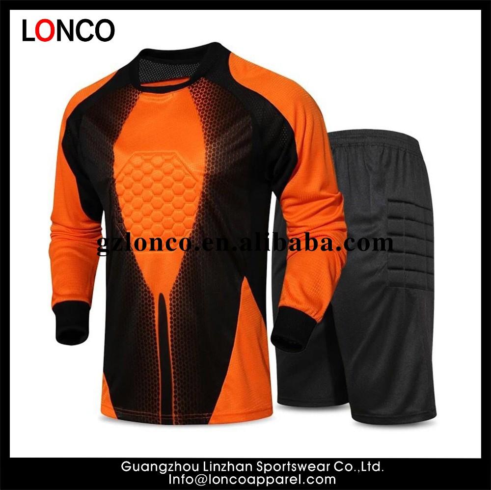 c8db28ba61768 2016 adultos fútbol portero Jersey hombres portero uniformes trajes de  manga larga personalizado sublimado equipo de