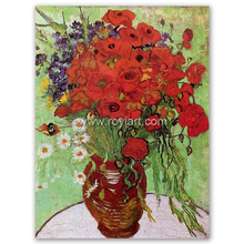 Canvas Flower Oil Painting Red Poppies and Daisies by Vincent Willem van Gogh