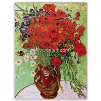 Canvas flower oil painting red poppies and daisies by vincent willem canvas flower oil painting red poppies and daisies by vincent willem van gogh mightylinksfo