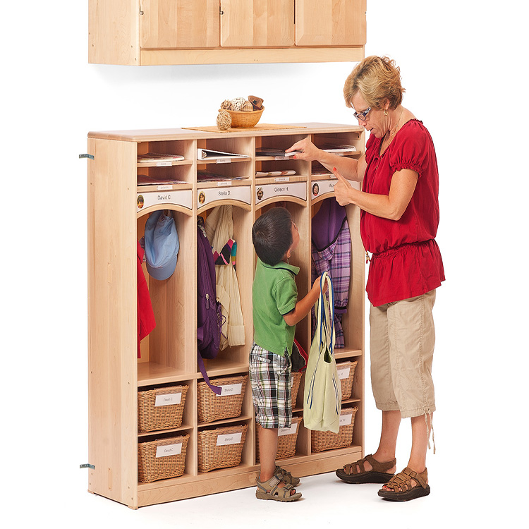China Manufacturer Kids Room Furniture School Furniture Wooden Baby Wardrobe