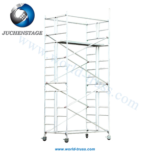Quick Erect Foldable Scaffold Import from China European Style Aluminum Folding Mobile Scaffolding Wheels Second Hand Scaffold