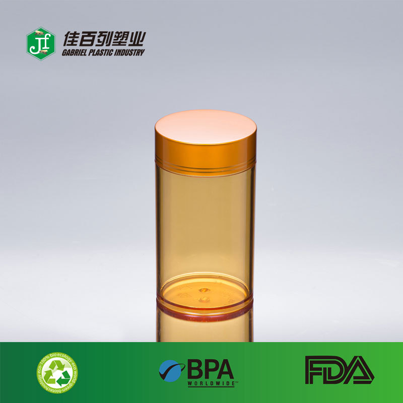 120ml plastic empty clear pp material aluminium cap plastic pill bottles for sale