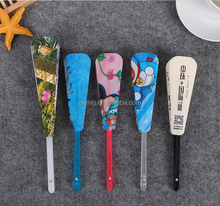 personalized blank advertising folding plastic hand fan wholesale China