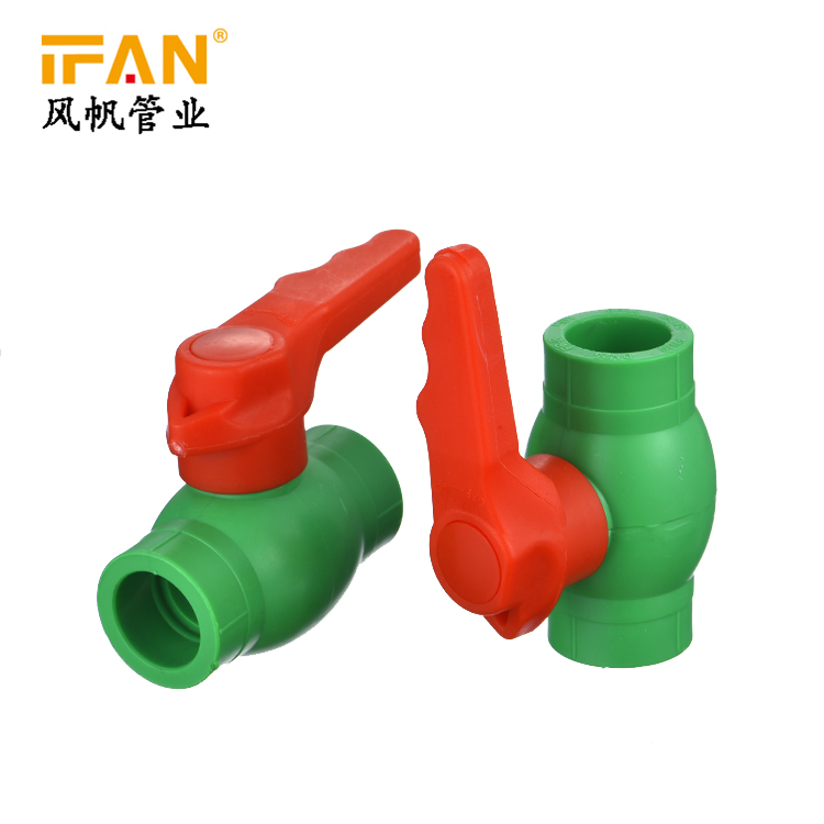 Manufacturer Wholesale PPR Fittings Green Color 20mm-110mm PPR Brass Ball Valve PPR Ball Valve Ball Cock