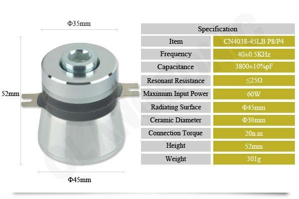 Pzt Ultrasonic Transducer Underwater/ultrasonic