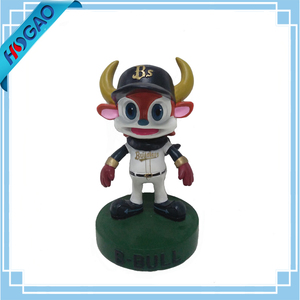 Carton figurines resin dashboard bobble head animals,bobblehead