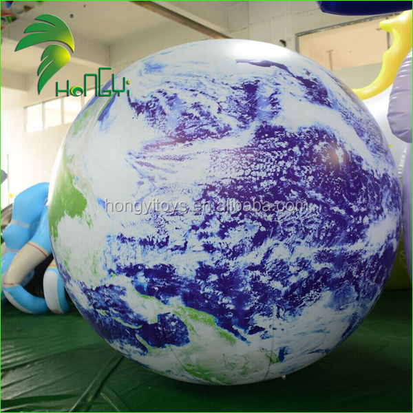 2016 Earth Ball Outdoor Hanging led Christmas Ball Inflatable Lighted Ball for Wedding / Party