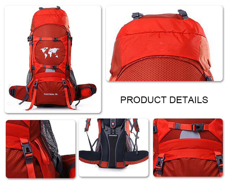 High quality camel mountain waterproof hiking bag
