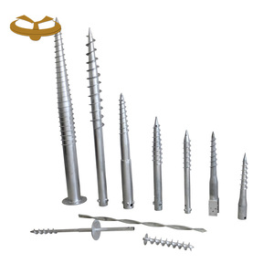 Different kinds of ground earth screw anchor suppliers