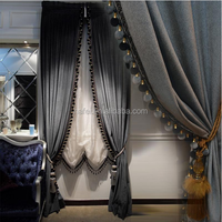 Window covering customized luxury blackout velvet curtain for living room