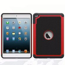 PC Silicone football textured Hybrid combo case for ipad mini 4, for ipad mini 4 hard case