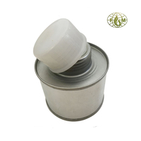 100ml round easy paint can packaging with brush applicator