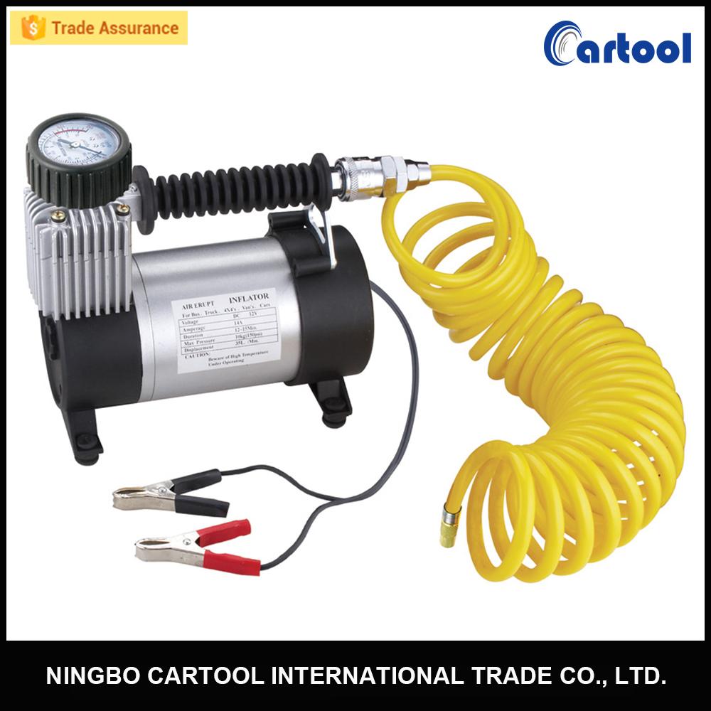 Bomba el/éctrica port/átil del inflador del neum/ático del compresor de Aire del Coche 12V Resistente