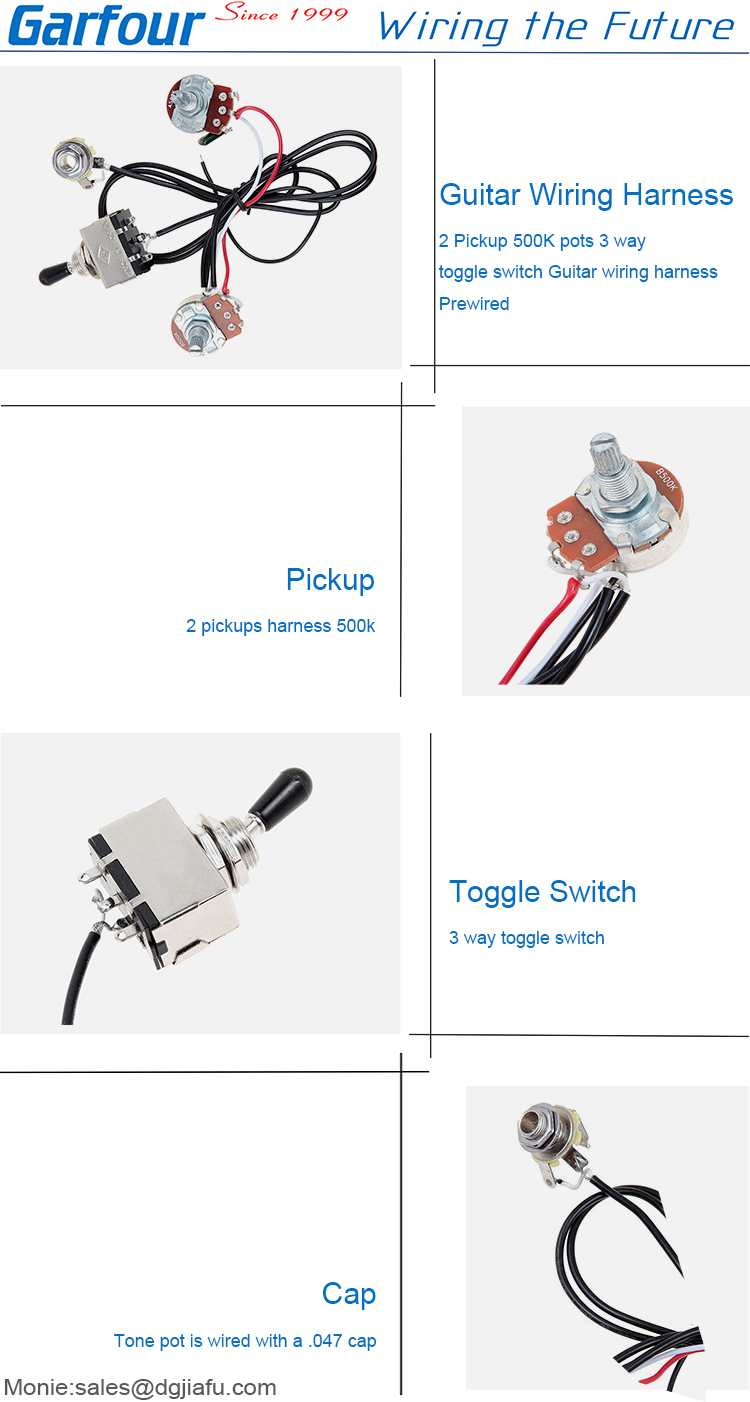 Equipment Wiring Harness Toggle Switch Cable For Guitar Buy Tone Pot