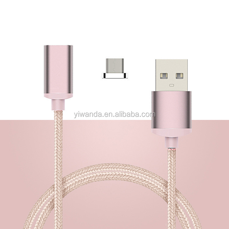 High Quality Magnetic Micro USB Charging Cable Nylon Braided USB Cable