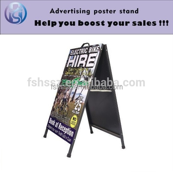 Outdoor Double Sided floor poster holder for Electric Bike H24