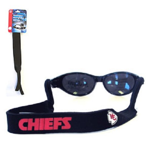 Kansas City Chiefs Neoprene Strap Holder Croakies for Sunglasses or Eyeglasses Officially Licensed NFL Football Team Logo