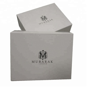 Wholesale custom print luxury white cardboard gift packing magnetic closure gift paper box