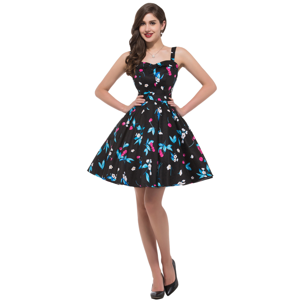 Get Quotations · Free Ship Hot sale GK Halter Pinup Rockabilly Retro Cotton  polka dot floral Print Party 4329e177381c