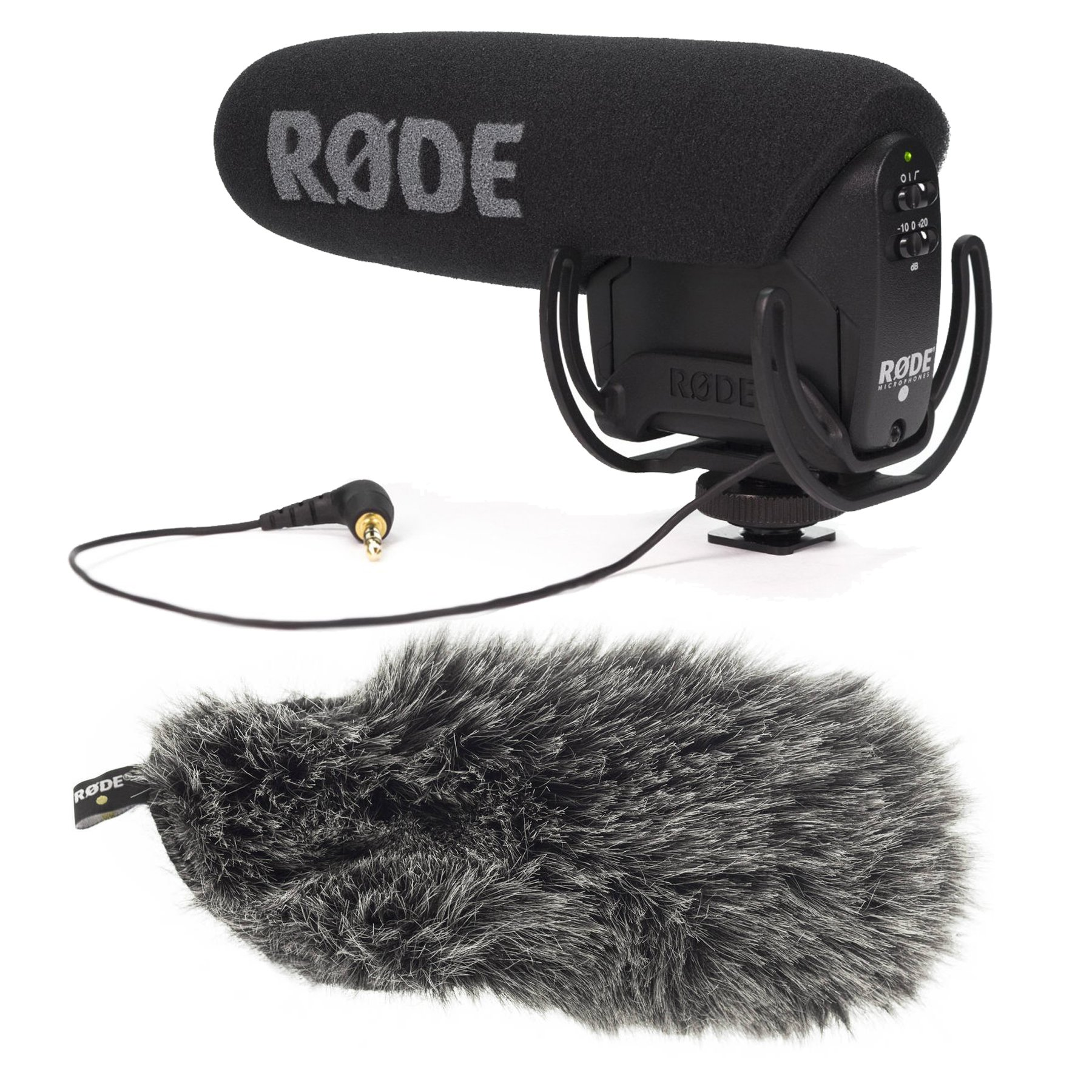 Rode VideoMic Pro Microphone with DDC-VMPR Deadcat Furry Windshield