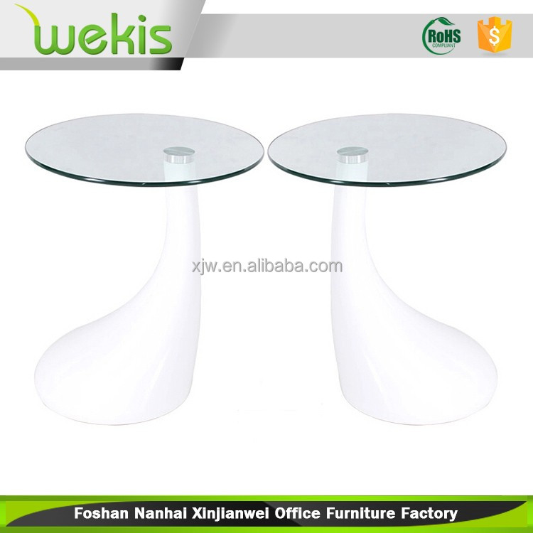 Home Vibrating Luxury Mushroom Shape Toughened Glass Table Made In China
