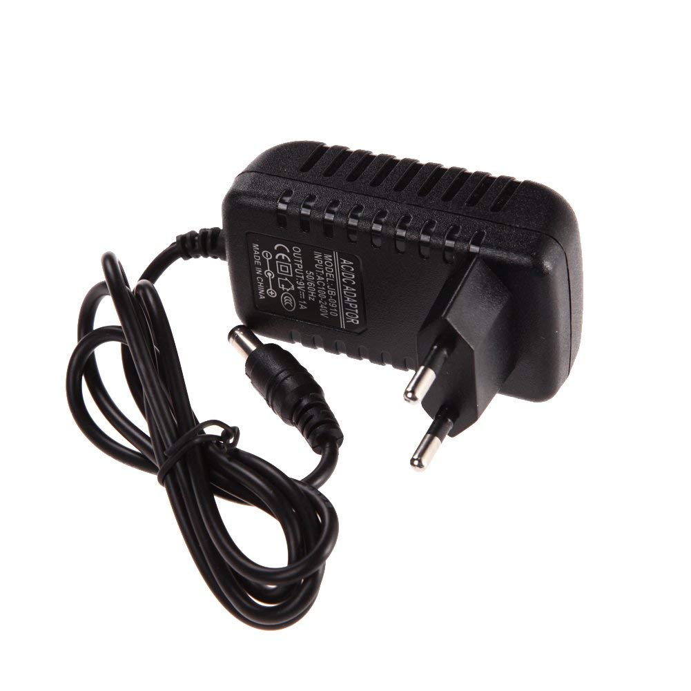 ERTIANANG AC 100-240V Converter Adapter DC 9V 1A 1000mA Charger EU Plug with 1M cable