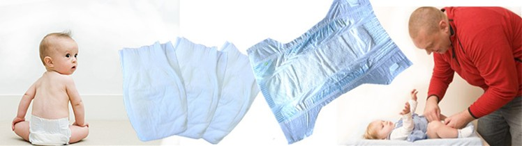 Disposable baby diapers low price made in China