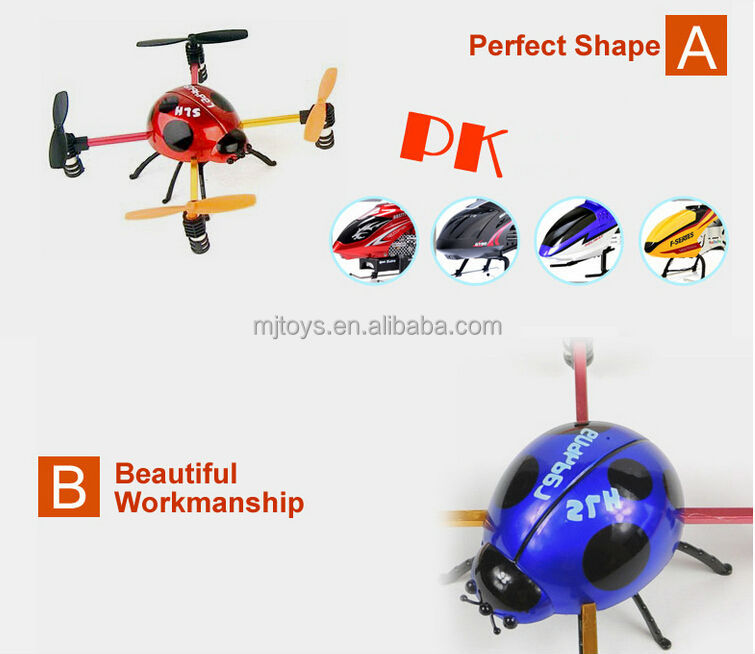 China Manufacture insect2.4G 4 Axis RC Drone RC Quadrocopter With Gyro RC Helicopter UFO