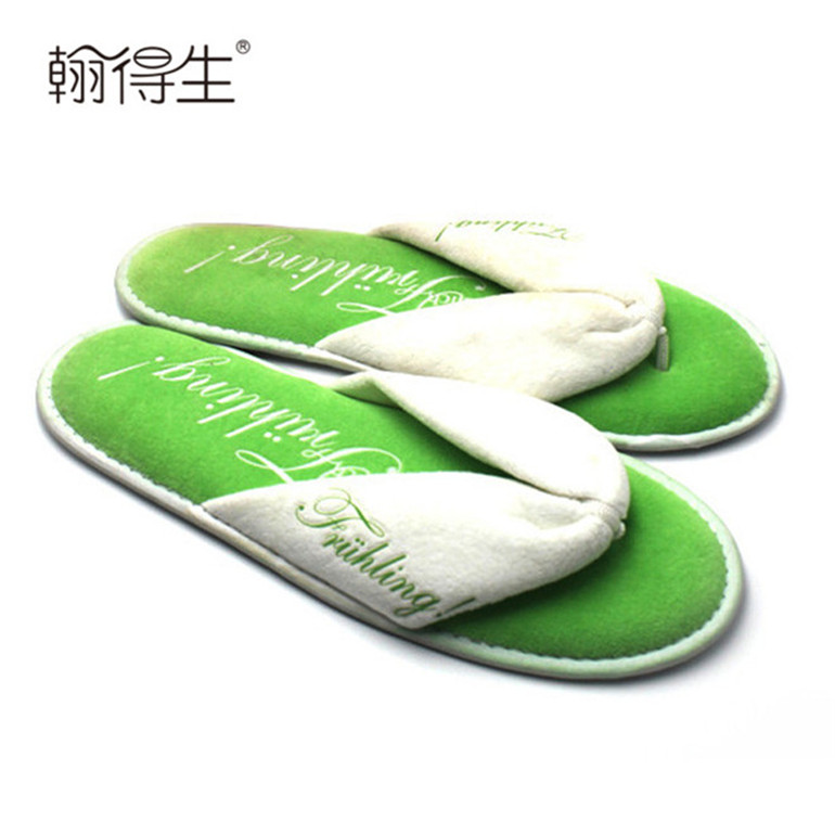 very fashionable wholesale branded couple hotel slippers