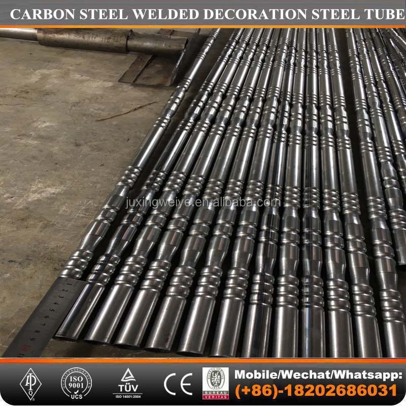 carbon steel decoration steel tube and decorative iron tube pipe