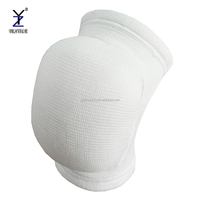 Custom white volleyball knee pad, compression basketball knee brace support