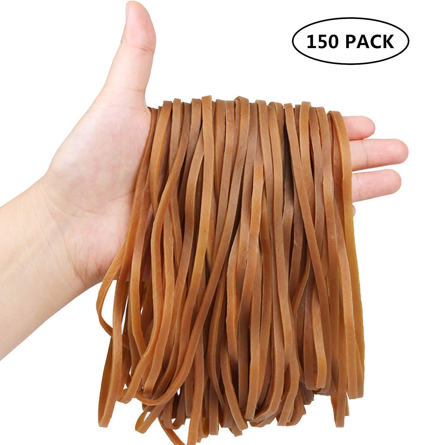 AIEX Large Thick Rubber Bands Big File Bands Elastic Heavy Duty Rubber Bands for Trash Can School,Home or Office 15.7 Inches Stretched Length, 60 Pack